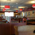 Standard decor for friendly's , and no wait!