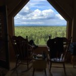 view first night - can't see Denali