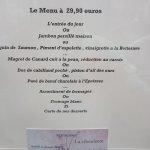 Menu a 29.90 euros