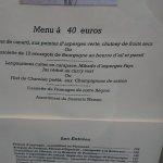 menu a 40 euros