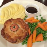 Steak and ale pie...large plate!