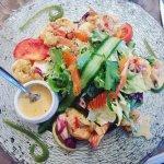 salade de crevettes ( ou gambas je ne sais plus le terme exact )