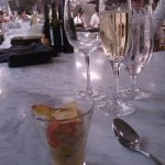 Shrimp Ceviche and champagne to start