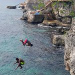 Cliff diving at Xtabi