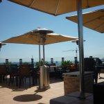 Roof terrace overlooking Sea of Marmara