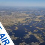 Amazing views as you fly in over the Delta