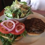 Burger with Caesar Salad