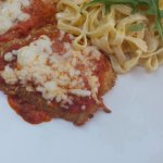 Ottawa's Little Italy La Roma Restaurant - chicken parmigiana with fettuccine.i.
