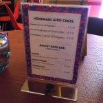 Snacks/drinks menu for consideration