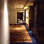 hallway outside of room.