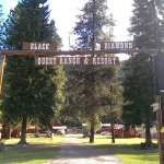 Entrance to the Black Diamond Guest Ranch!