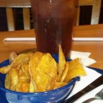 Fried chips and tea