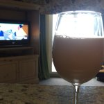 Fancy chocolate milk while watching cartoons