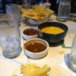 queso dip and salsa's