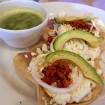 Huevos Rancheros with green sauce