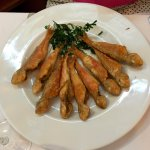 """salmonetitos"" (small fried fish, see picture) were excellent (5*)"