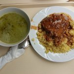 Spicy meat stew with millet