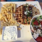 Half size local kebab with feta cheese