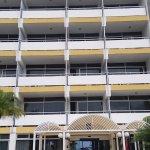 La fachada vieja del hotel