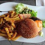 Burger et salade thon ect