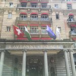 VIEW OF MAIN ENTRANCE OF LAUSANNE PALACE & SPA, JUNE 2016.
