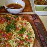 Masala papads and chutneys