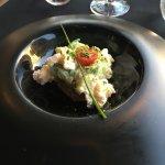 Mahi mahi tartar with crab mousse