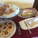 Breakfast pastries freshly baked by Eva