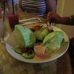 Head lettuce with shrimp