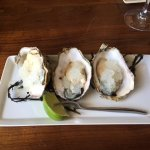 Oysters on the half-shell with lemon vodka granita.