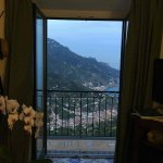 Viewing the Amalfi coast from our balcony