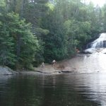 Moore's Falls at Red Deer Log Cabins