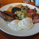 Breakfast even comes with bubble and squeak. Truly unique
