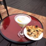 Lemon drop and wood grilled pizza