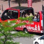 """départ du bus """"city tour"""" devant l'hôtel : que demander de plus !"""