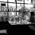 Dining table in the window.