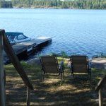 View from our cottage, each cottage has a dock for your own boat or rent one.