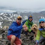 On Mt. Cameron with puppy, Sport!