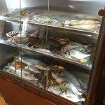 vitrina pescado, una de nuestras especialidades!!!