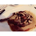 French Rib Steak with Bordelaise Sauce and Mushrooms