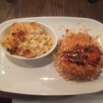 Salmon and steakhouse mac