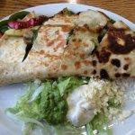 Veggie Quesadilla and Steak Nachos