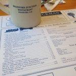 The menu/placemat