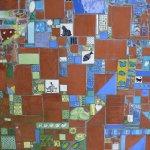 """Ausschnitt aus dem Wand-Mosaik im """"Rebstock-Garten"""", Bild 2"""