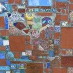 """Ausschnitt aus dem Wand-Mosaik im """"Rebstock-Garten"""", Bild 3"""