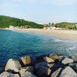 playa Chahue a cinco minutos caminando del hotel