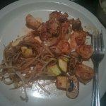 snrimp and noodles