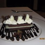 Luscious chocolate dessert