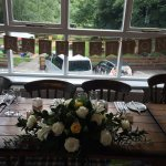 The staff set the tables with our name cards, favours and flowers. Nothing was too much trouble