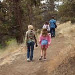 Walking trail along the Deschutes river on the property grounds